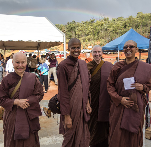 The four new bhikkhunis, Vens Gotami, Upekkha, Canda and Karunika.